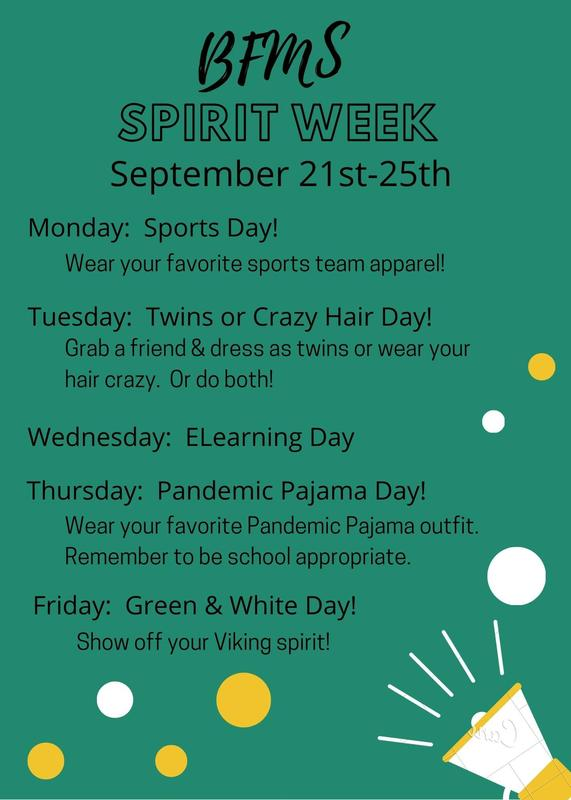 Spirit Week flyer