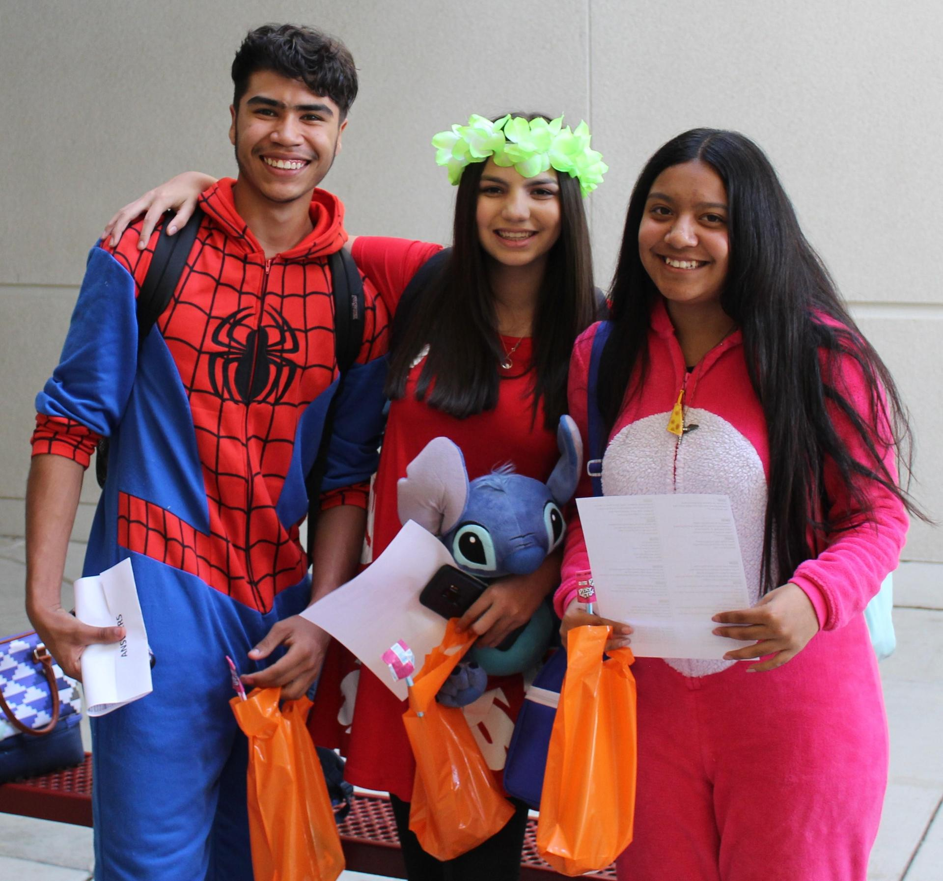 Students and Staff dressing up for Halloween