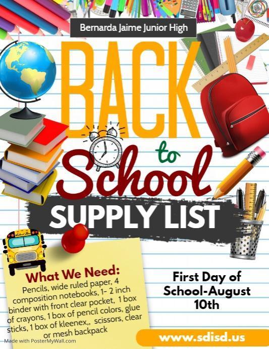 2020-2021 School Supply List Featured Photo