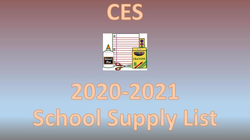 Clarkdale Elementary School Supply List Graphic