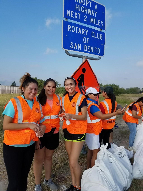 BPA Members picking up trash in San Benito.