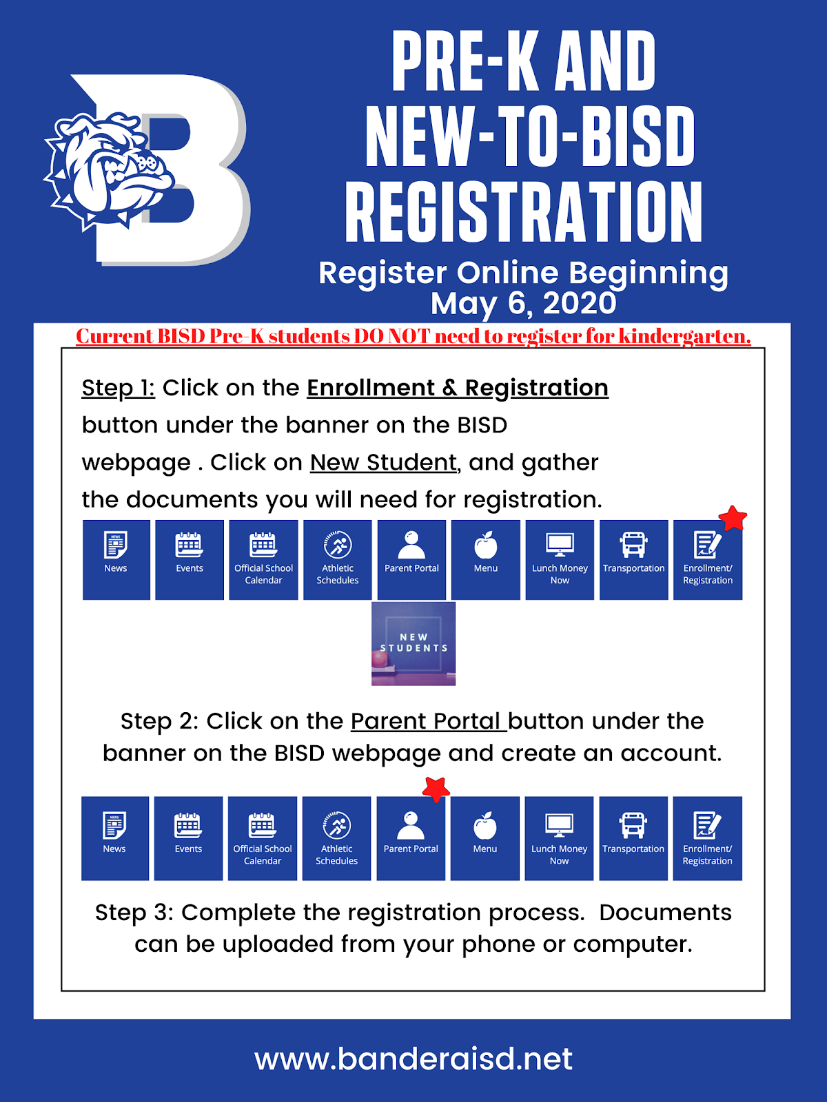 Directions for registering
