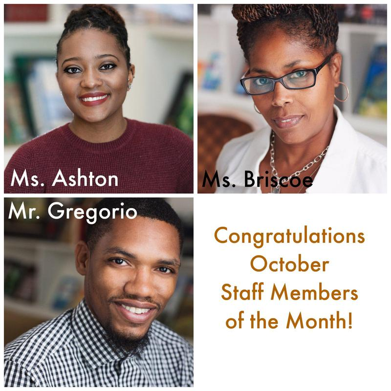 Congratulations to October Staff Members of the Month Thumbnail Image
