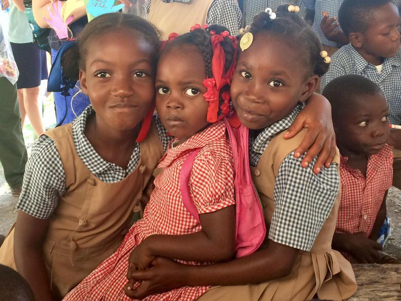 Students at St. Timothee's in Haiti