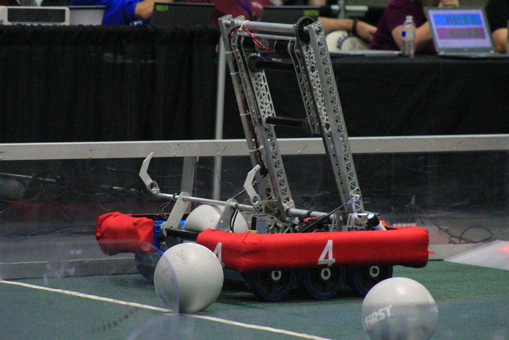Robot on field pre-match
