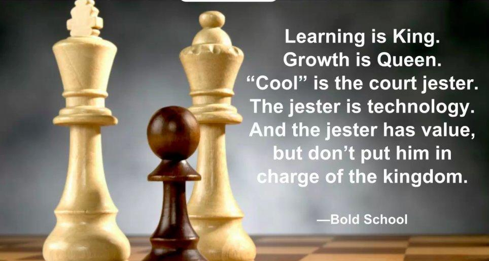 Learning is king growth is queen