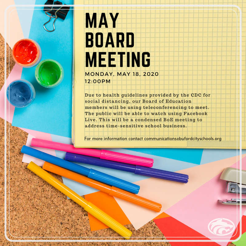 May Board Meeting Information