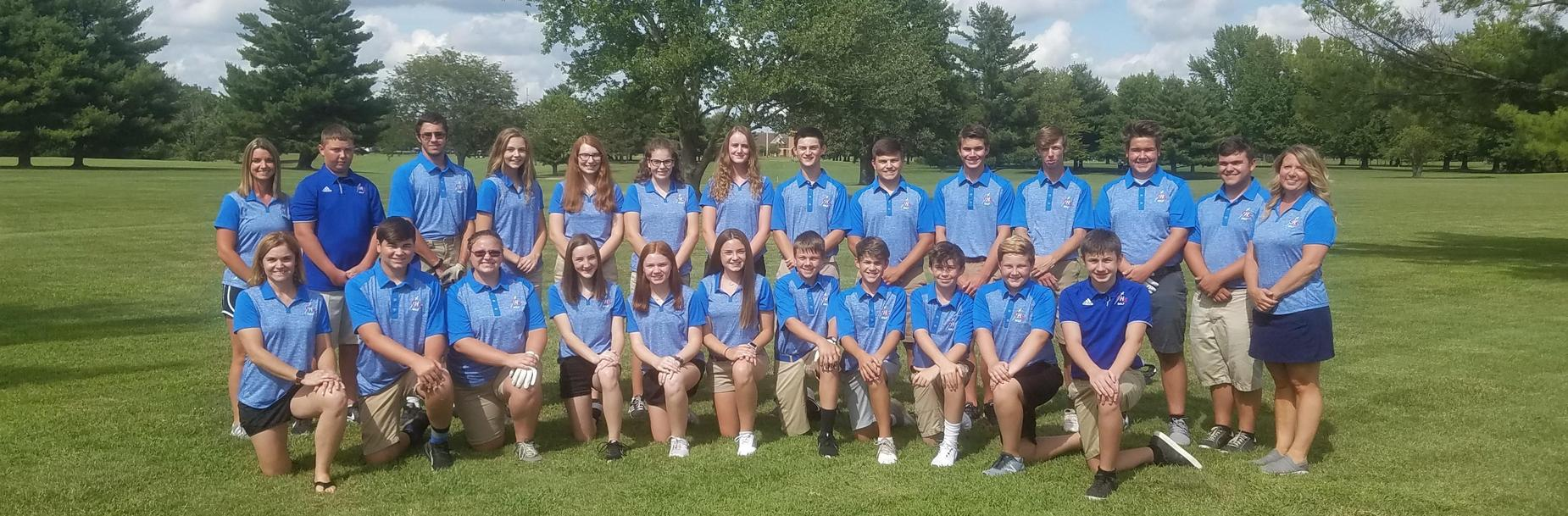 2019-2020 Carlinville High School Golf Team