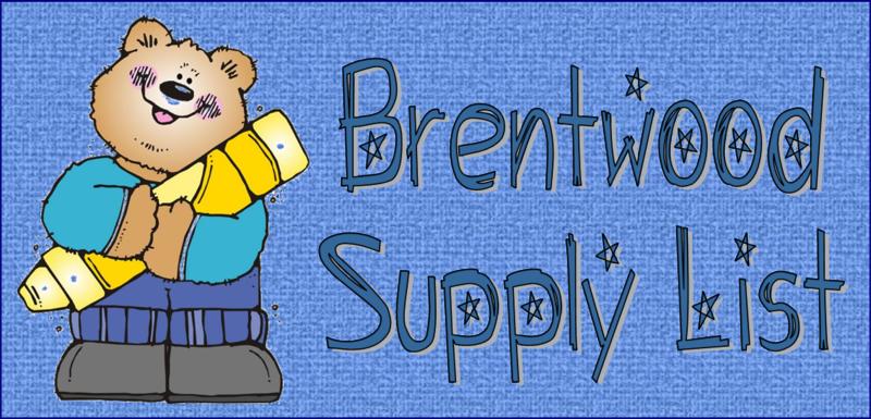 Brentwood School Supply List