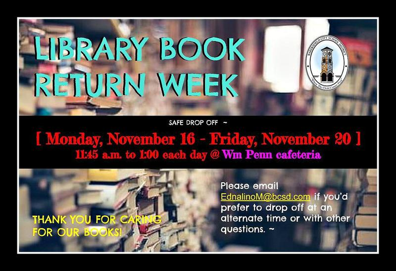 Fall Book Return Week / Library Featured Photo