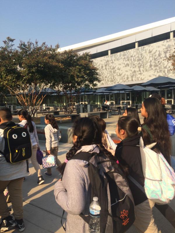 Students walking through campus, image 2
