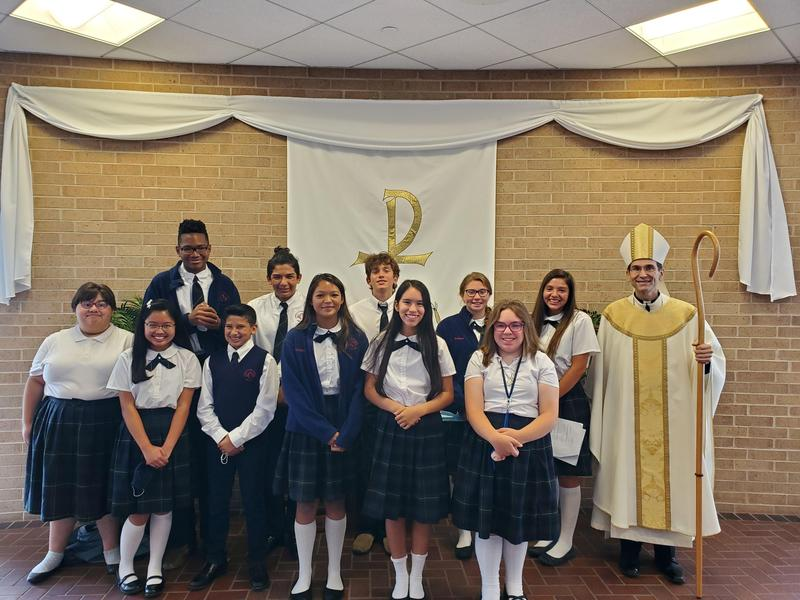 8th grade with bishop Sis