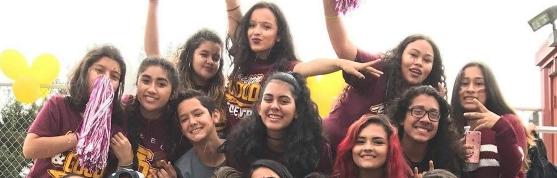 SLZ students showing school pride