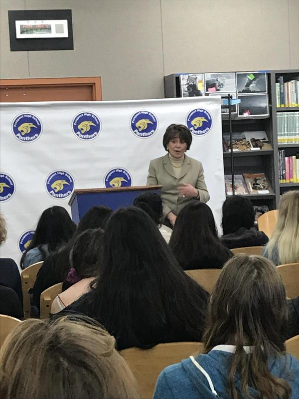 Congresswoman Anna Eshoo at Propect High School