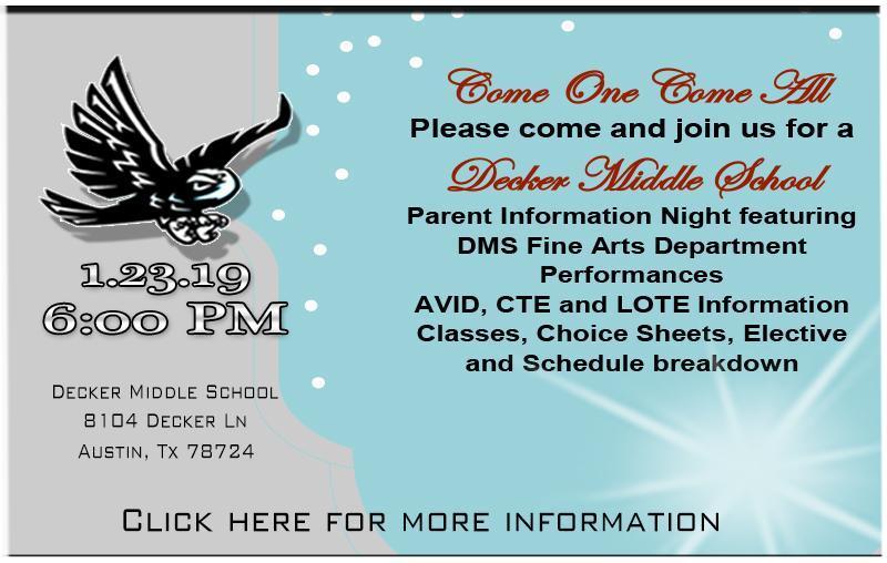 Decker Middle School Parent Information Night Thumbnail Image