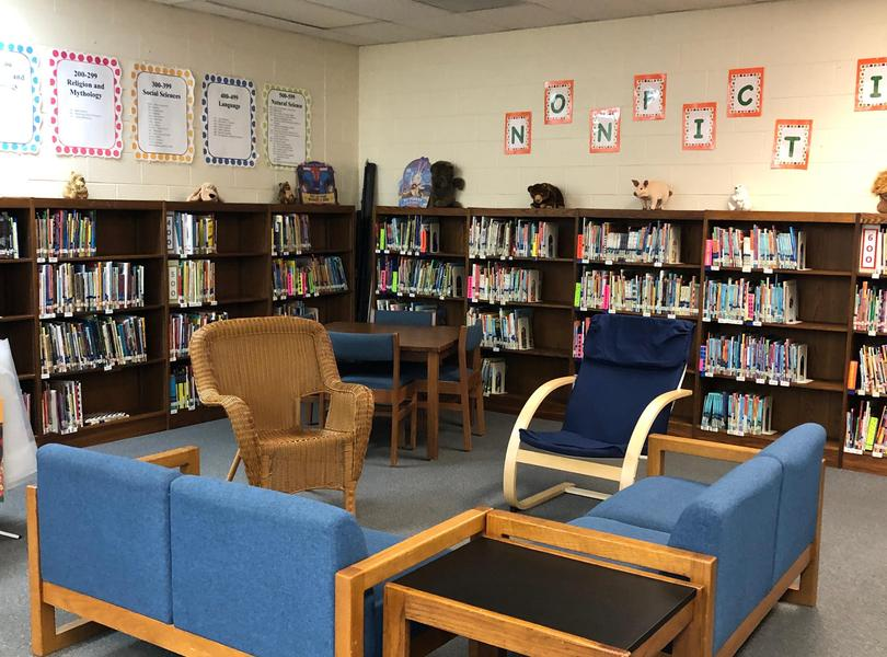 The media center is inviting our students to grab a good book, relax, and read.