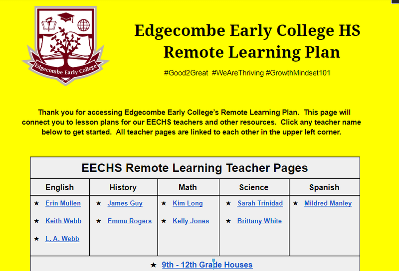 EECHS Launches Remote Learning Plan In Response to School Closure Featured Photo