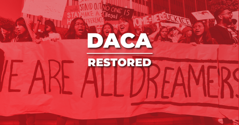 DACA PROGRAM RESTORED! Thumbnail Image