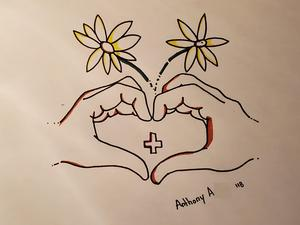 Anthony A. heart symbolism drawing