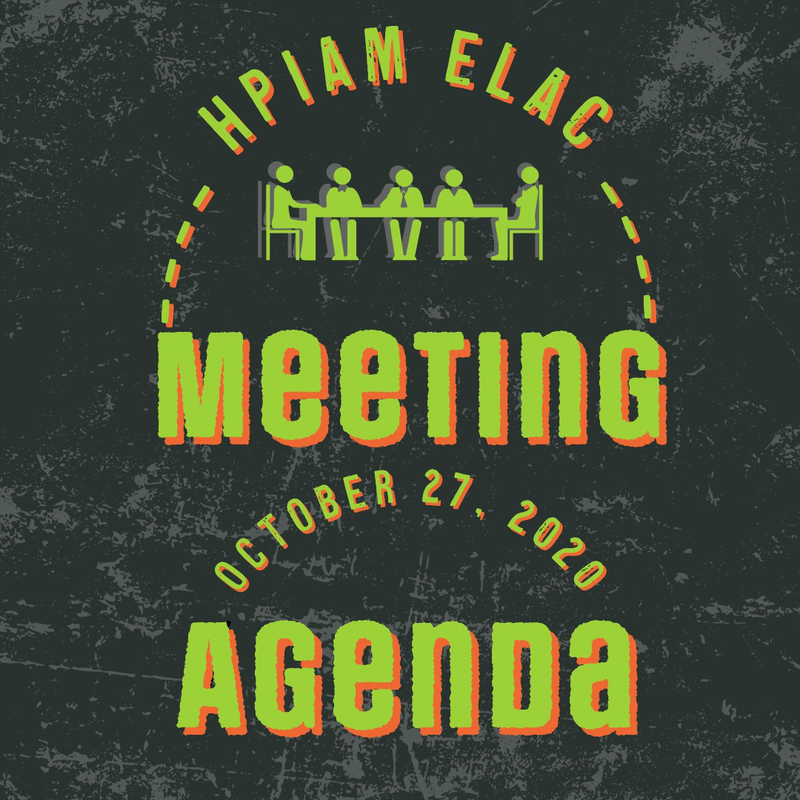 HPIAM ELAC Meeting Agenda 10-27-2020 Thumbnail Image