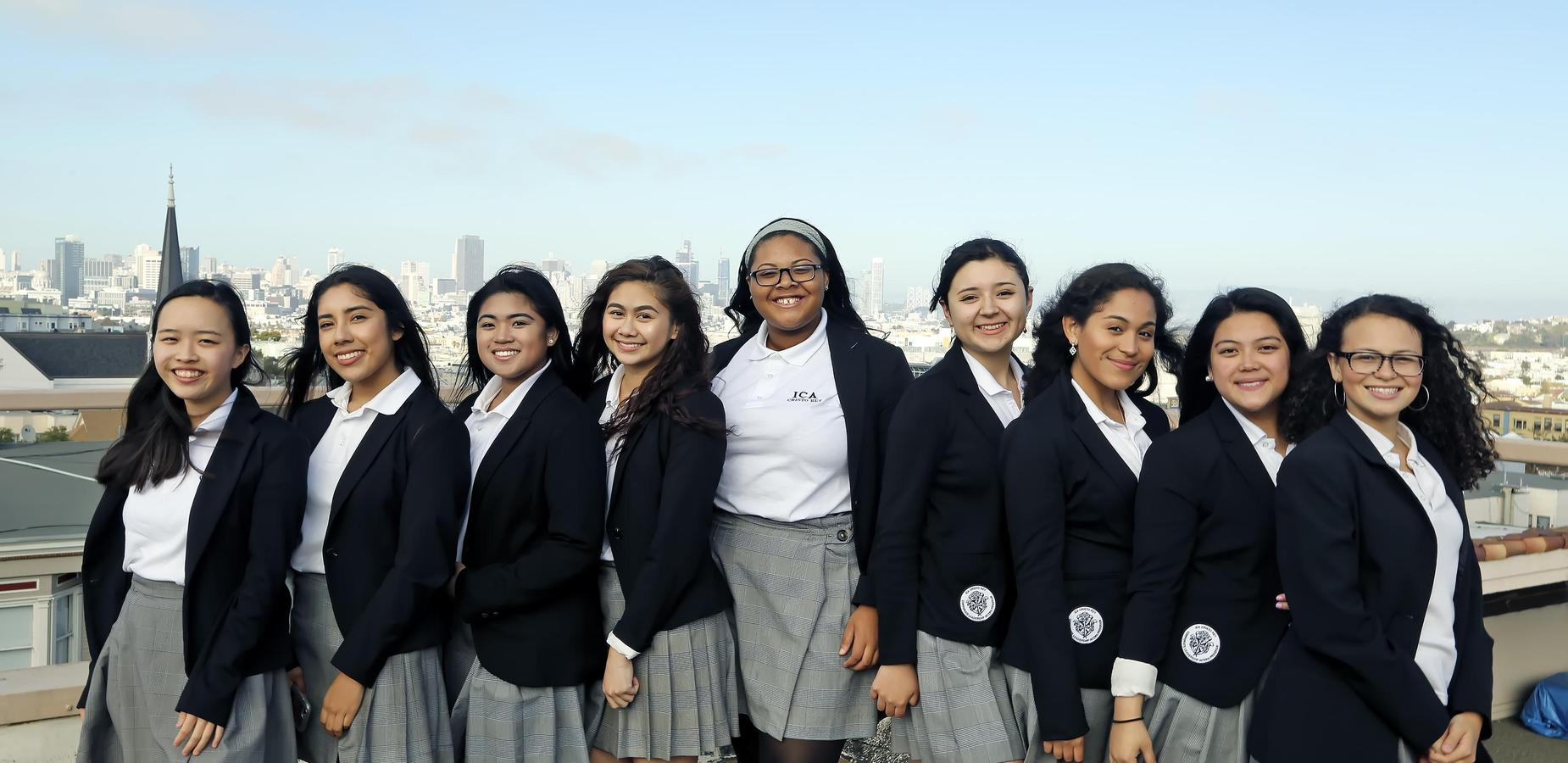 girls with san francisco view
