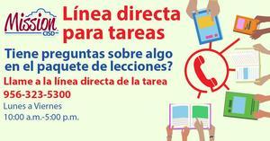 Spanish homework hotline graphic