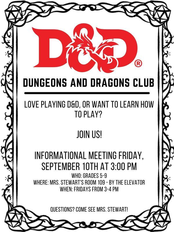 Dungeons & Dragons Club LPA best charter school in davis county