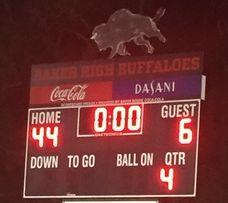 photo of the final score board with Baker vs Mentorship