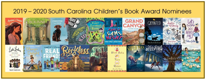 South Carolina Children's Book Award Nominee Titles for 2019-20