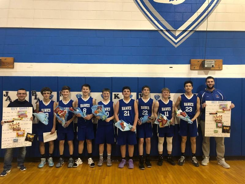 Boys' Basketball Celebrated 8th Grade Players Thumbnail Image