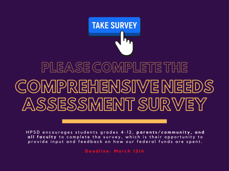We want to hear from YOU! Comprehensive Needs Assessment Survey Featured Photo