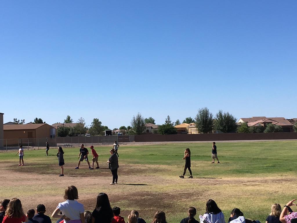 6th Grade vs Staff Kickball Game