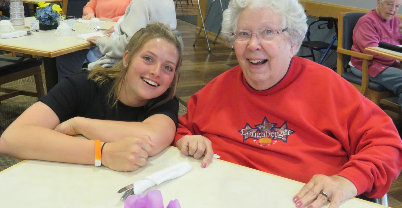 TKHS students played Bingo with residents at Carveth Village as part of service day.