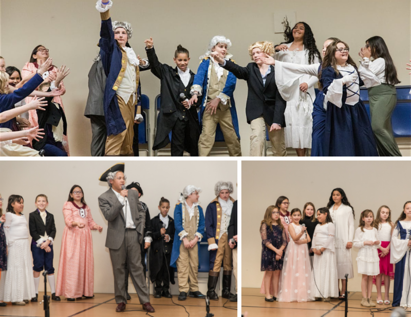 Students performing in Hamilton