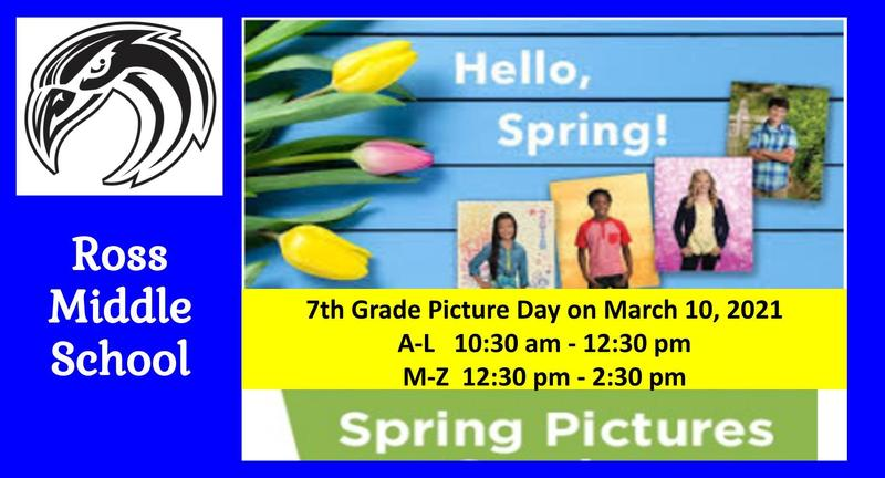 7th Grade Spring Pictures Flyer