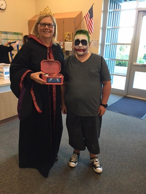 Staff and students showing their Halloween spirit