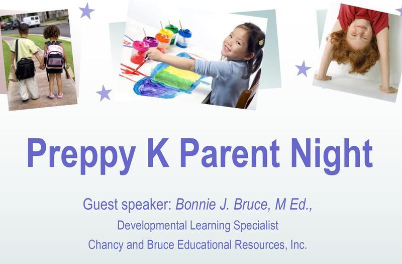Preppy K Parent Night on September 26