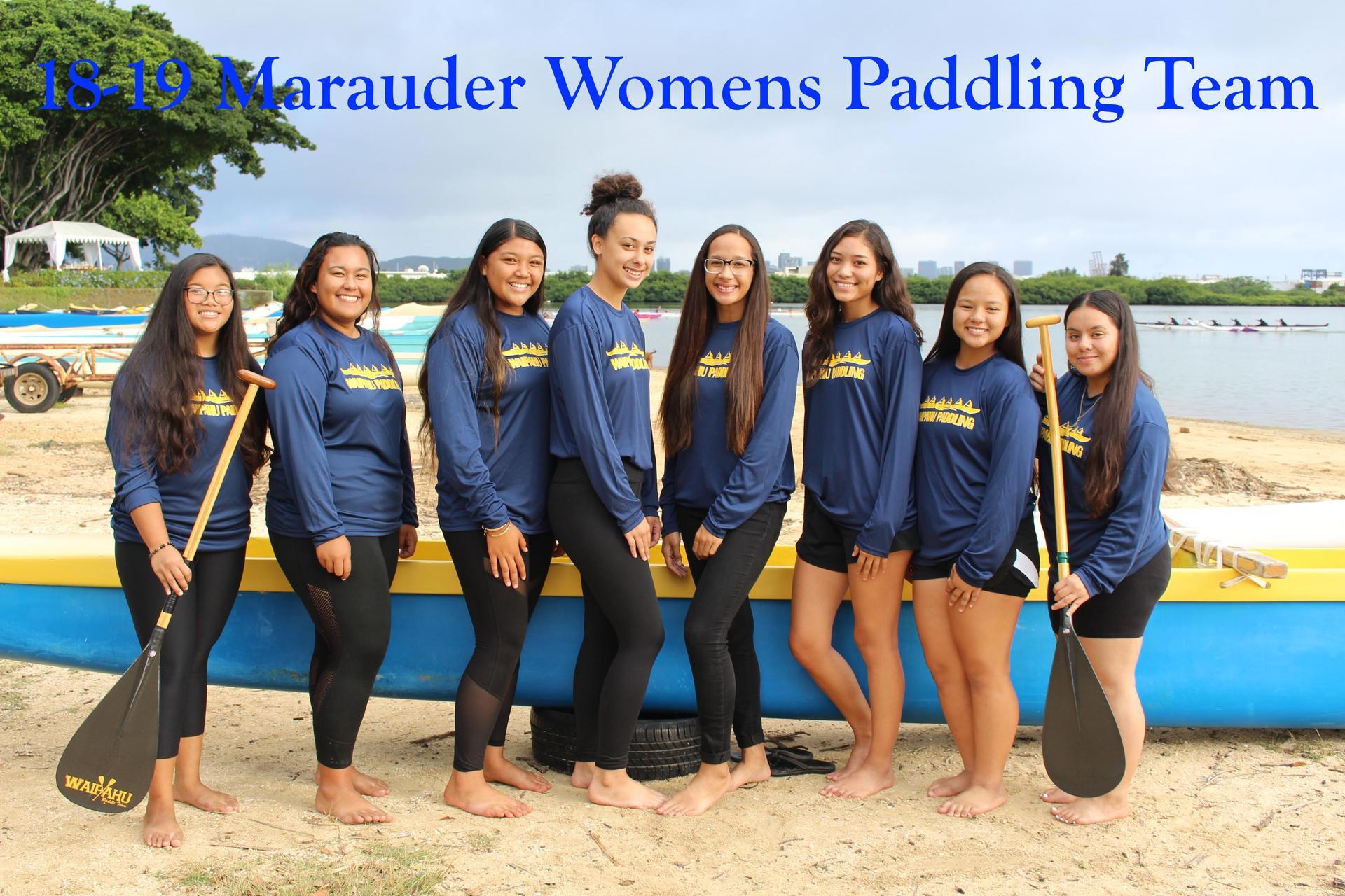 Paddling Varsity Girls
