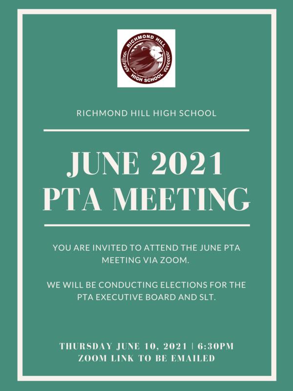 June 2021 PTA flyer