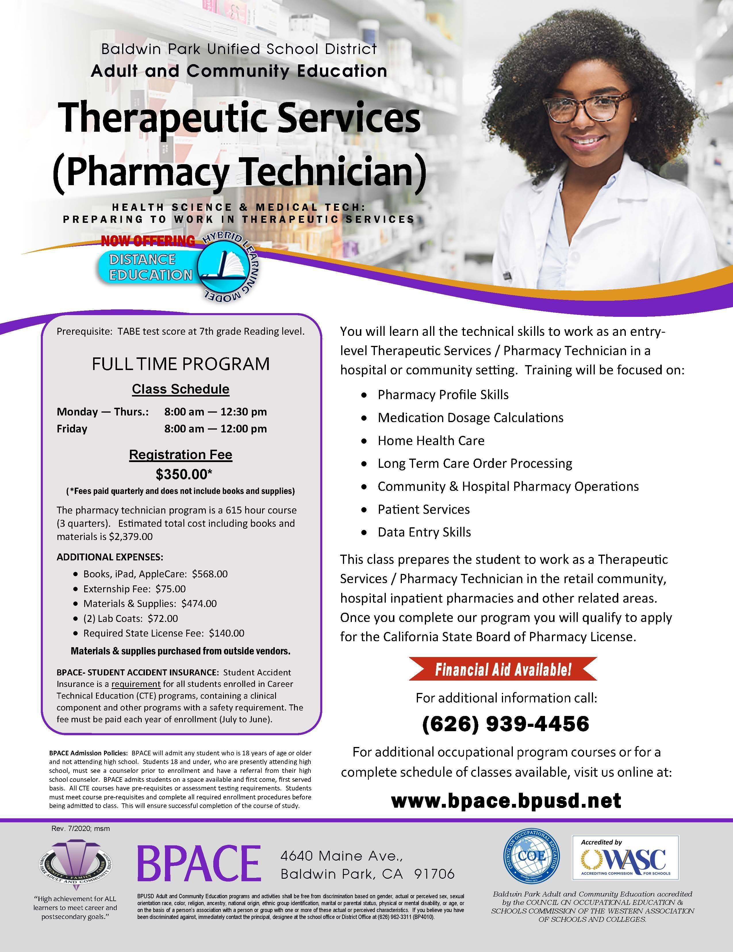 Pharmacy Technician Class Flyer