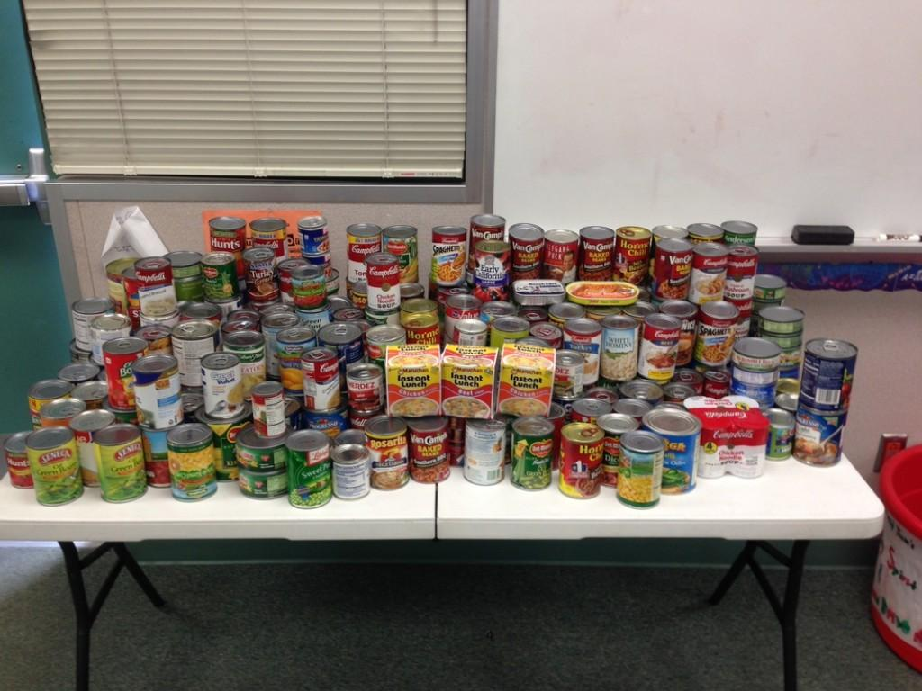 Canned Food drive donations