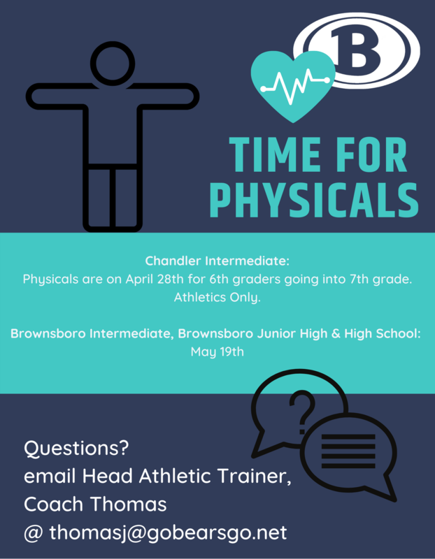Sign up for physicals Featured Photo