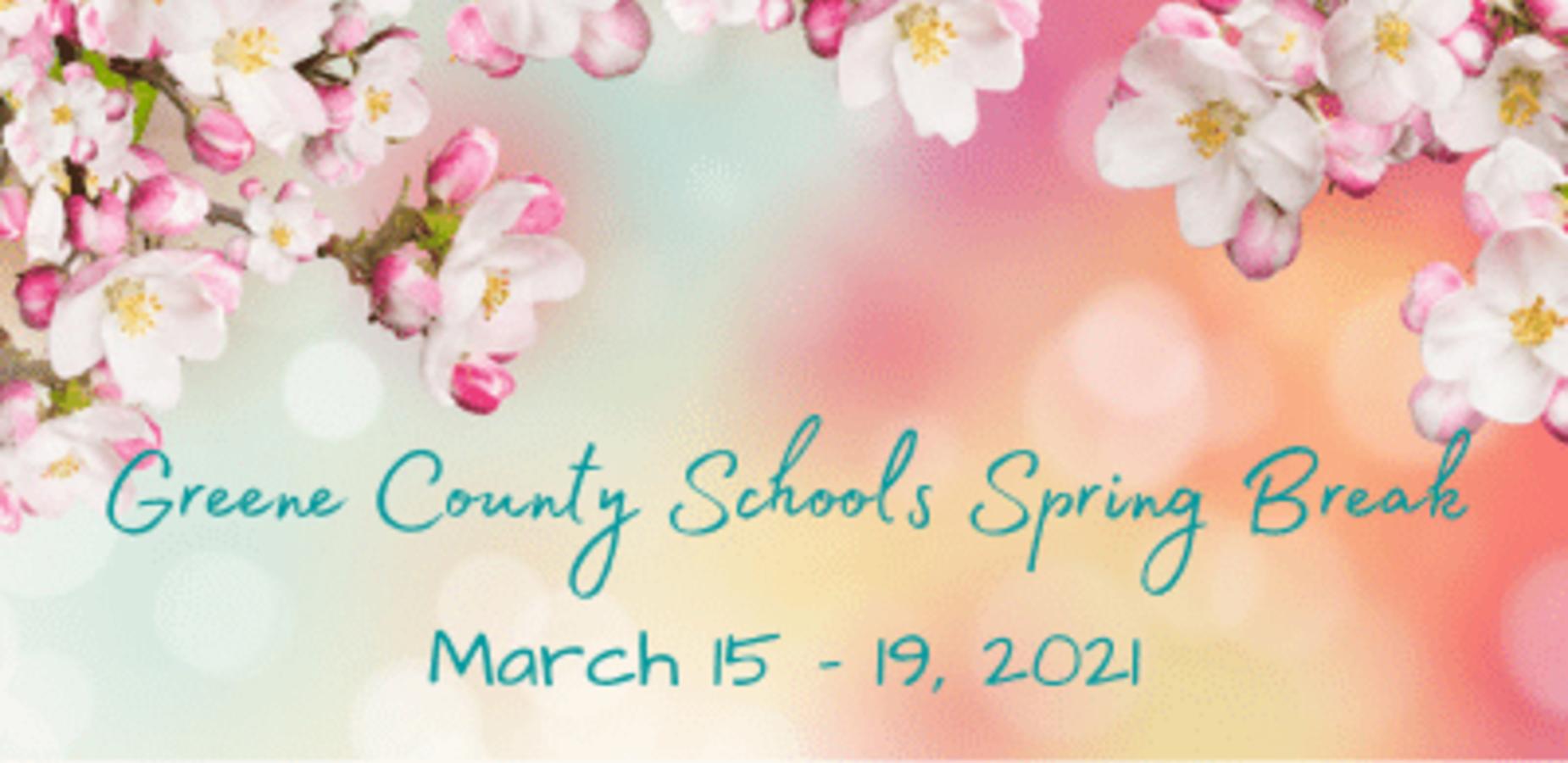 Greene County School's Spring Break March 15-19