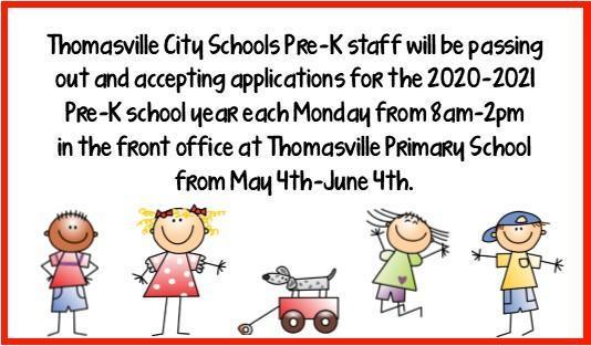 Pre-k application announcement