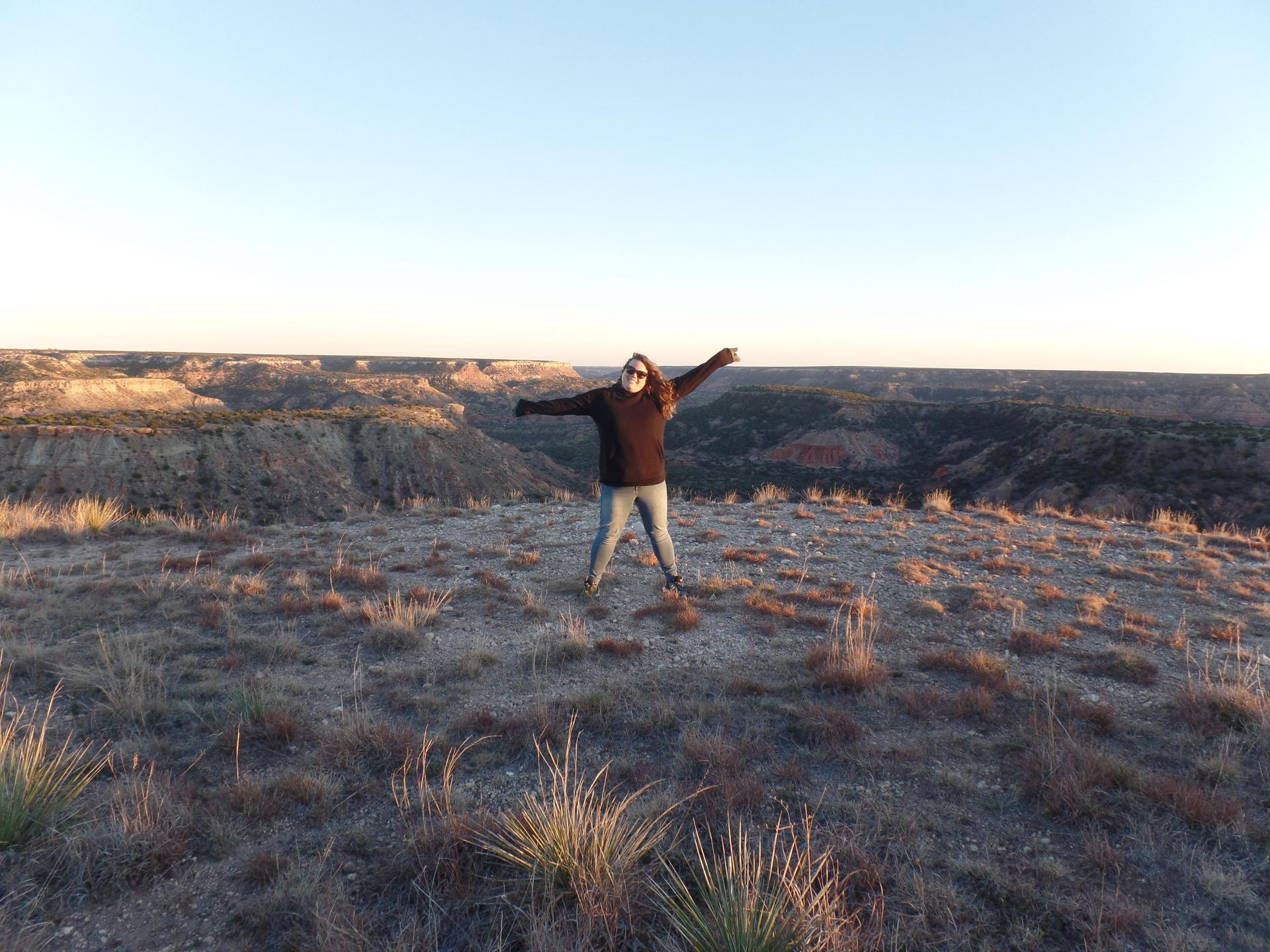 Mrs. Caballero standing in Palo Duro Canyon State Park.
