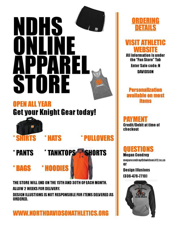 NDHS Apparel Store is Open for Business! Featured Photo