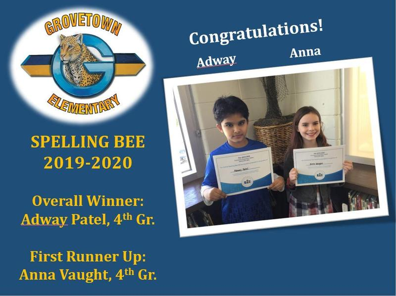 Congratulations to our Spelling Bee Winners! Featured Photo