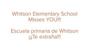 Whitson miss you