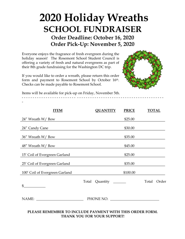 Holiday Wreaths School Fundraiser 2020