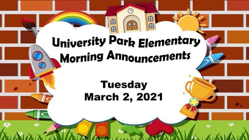 Morning Announcements: Mar. 2 Thumbnail Image